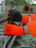 ORANGE VIZ PF INSULATOR GR.10 HANDSCHUH